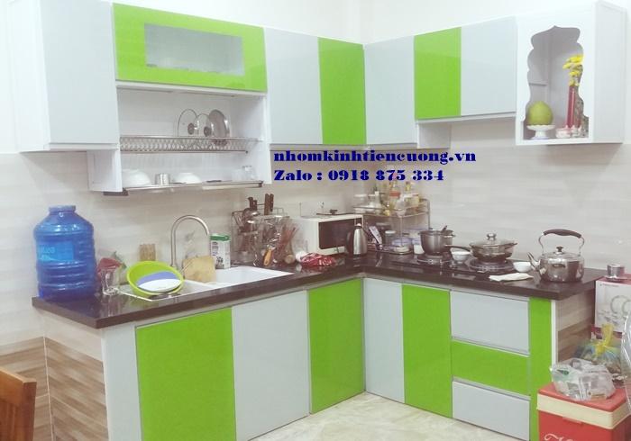 Mẫu tủ bếp nhôm kính đựng chén bát treo tường cao cấp đẹp tại tphcm