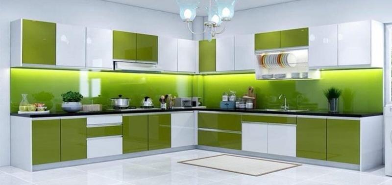 Mẫu tủ bếp nhôm kính đẹp tphcm